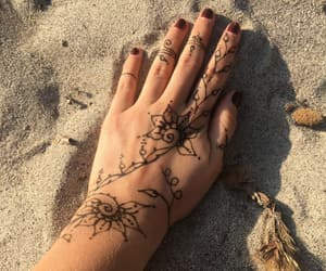 beach, henna, and paint image