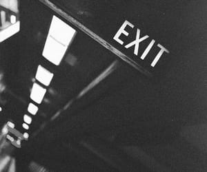 exit, dark, and grunge image