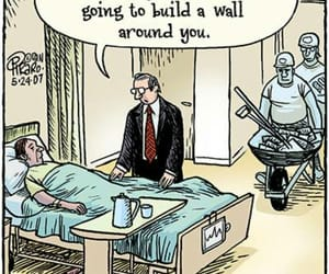 construction, funny, and wall image