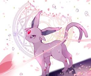 pokemon, espeon, and kawaii image