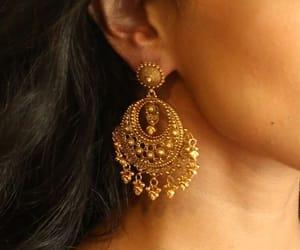 aesthetic, earring, and earrings image
