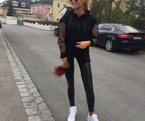 black, fashion, and ootd image