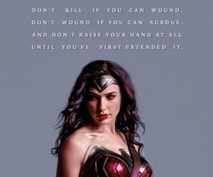 quote and wonderwoman image
