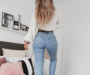 beauty, girl, and jeans image