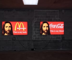 funny, red, and jesus image