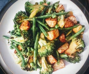 broccoli, food, and meal image