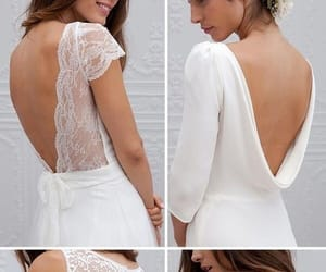 back, white, and bride image