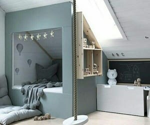 bed, children, and room image