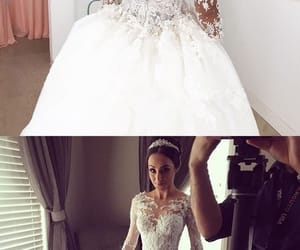 bride, dress, and married image