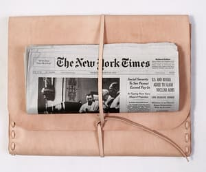 newspaper, pink, and new york times image