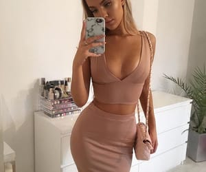 blonde, clothing, and dress image