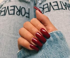beauty, nail art, and red nails image