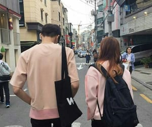 couple, asian, and pink image