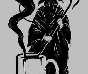 black, coffee, and drawing image