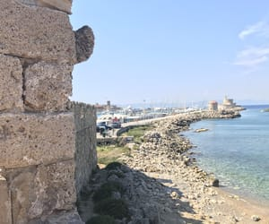 beach, rhodes, and beautiful image