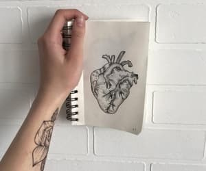 aesthetic, heart, and pale image