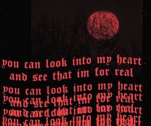 red, dark, and grunge image