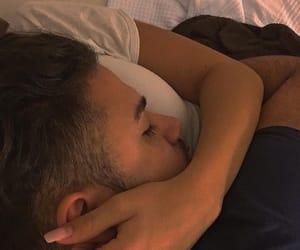 boy, couple, and sleep image