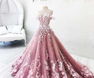 dress, flower, and goals image