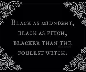 witch, black, and midnight image