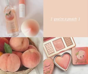 moodboard, peach, and wallpaper image