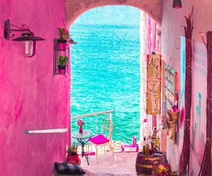 alley, pink, and colour image
