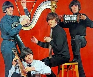 beatles, red, and ringostarr image