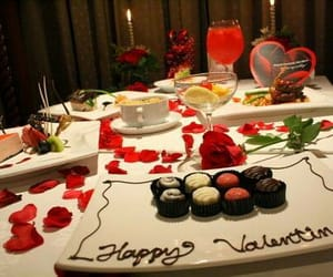 decor, happy valentine, and food image