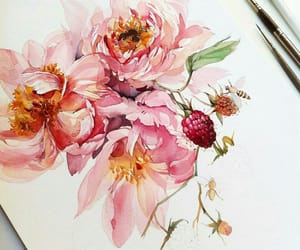 botany, flowers, and watercolor image