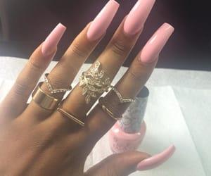 fashion, long nails, and nails image