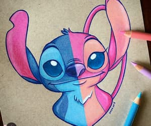 stitch, angel, and disney image