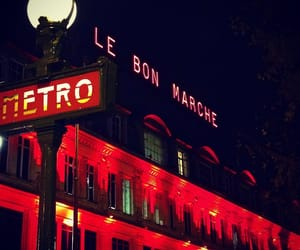 france, metro, and night image