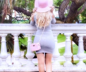blonde hair, pinkgirl, and pink lady image