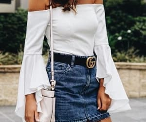 blouse, fashion, and skirt image