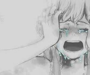 anime, cry, and draws image