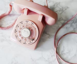 old phone and pink image