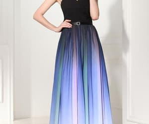 dress, fashion, and ombre dress image