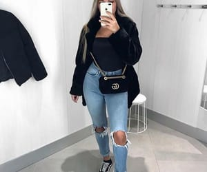 denim, gucci, and sneakers image