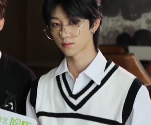 kpop, boy, and glasses image