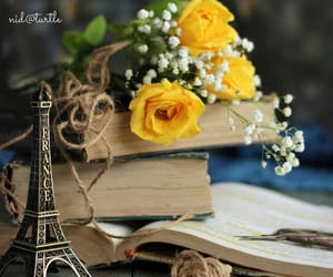 books, flores, and flowers image