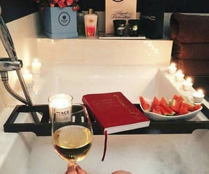 book, relax, and wine image