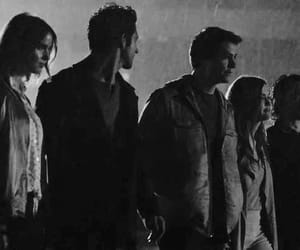 b&w, black and white, and teen wolf image