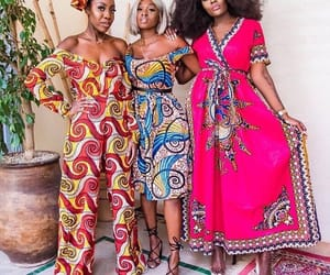 african fashion, girls, and pagne image