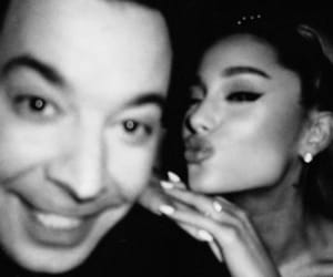 ariana grande and jimmy fallon image