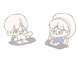 exo, baekhyun, and exo chibi image