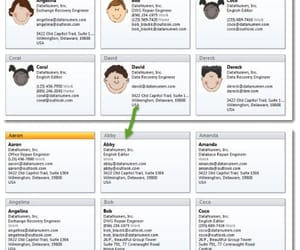 outlook vba, outlook recovery, and business cards image