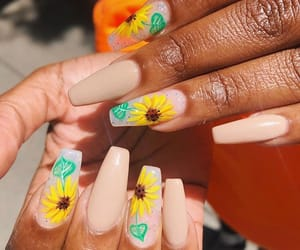 flowers, nail art, and nails image