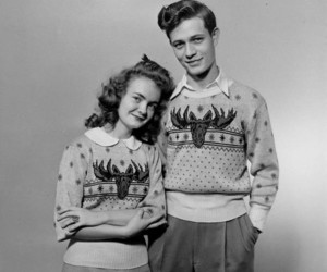 vintage, couple, and love image