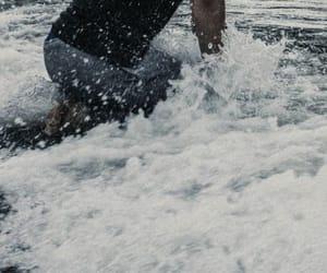 beach, ocean, and poseidon image