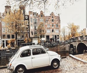 amsterdam, canal, and car image